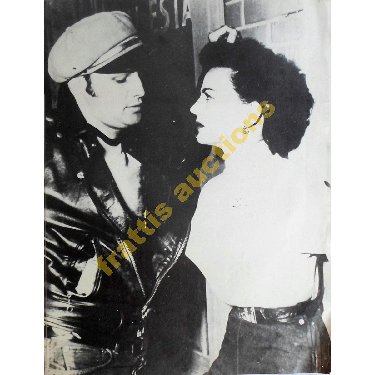 Marlon Brando and Yvonne Doughty, poster.