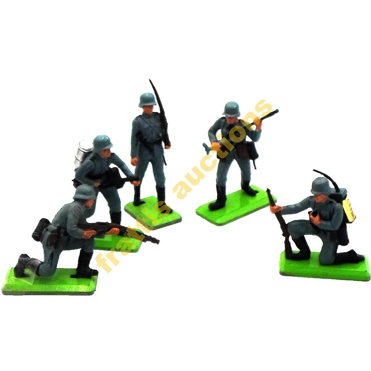 5  φιγούρες Γερμανών στρατιωτών WWII, BRITAINS LTD.