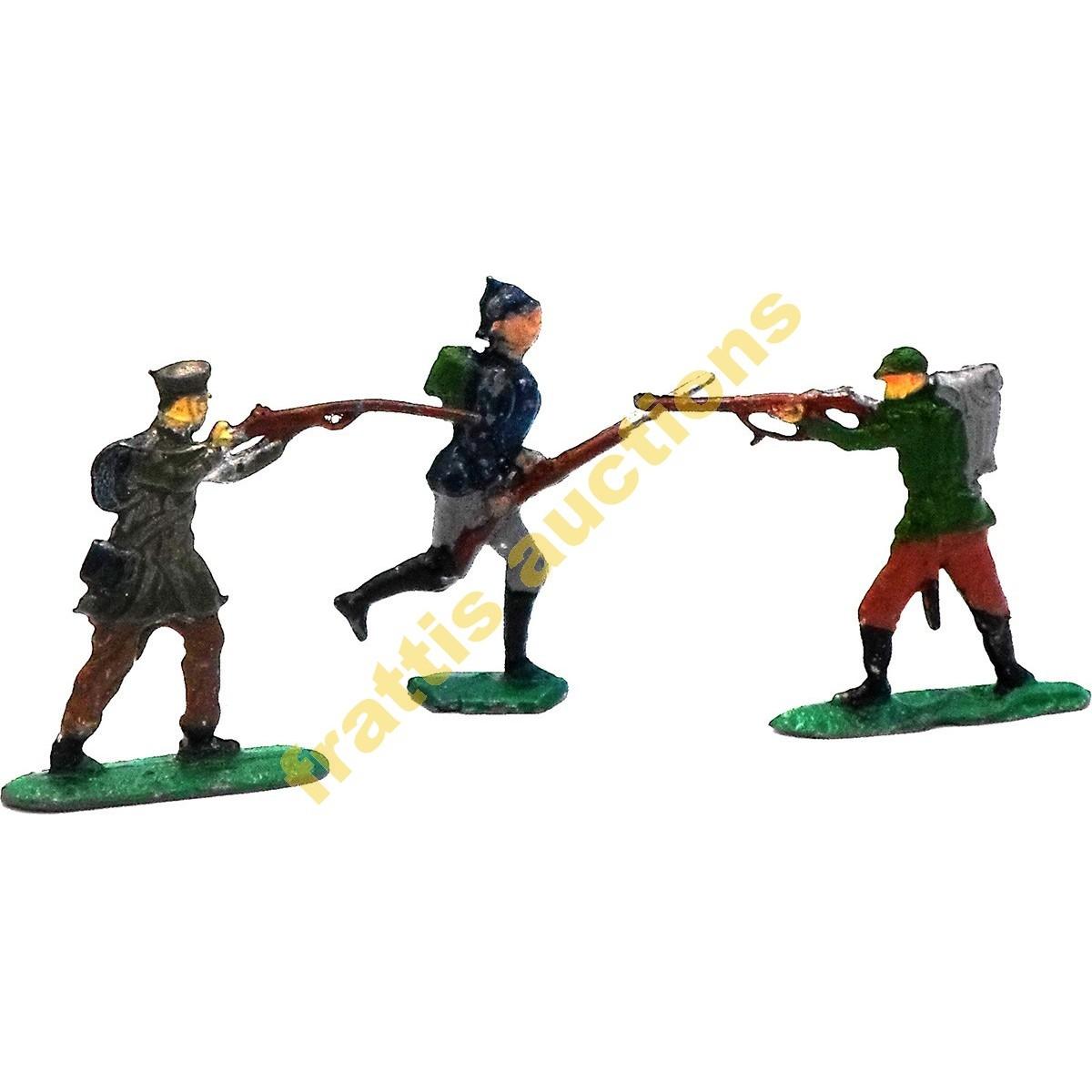 3 Μολυβένιες φιγούρες  στρατιωτών WWI.