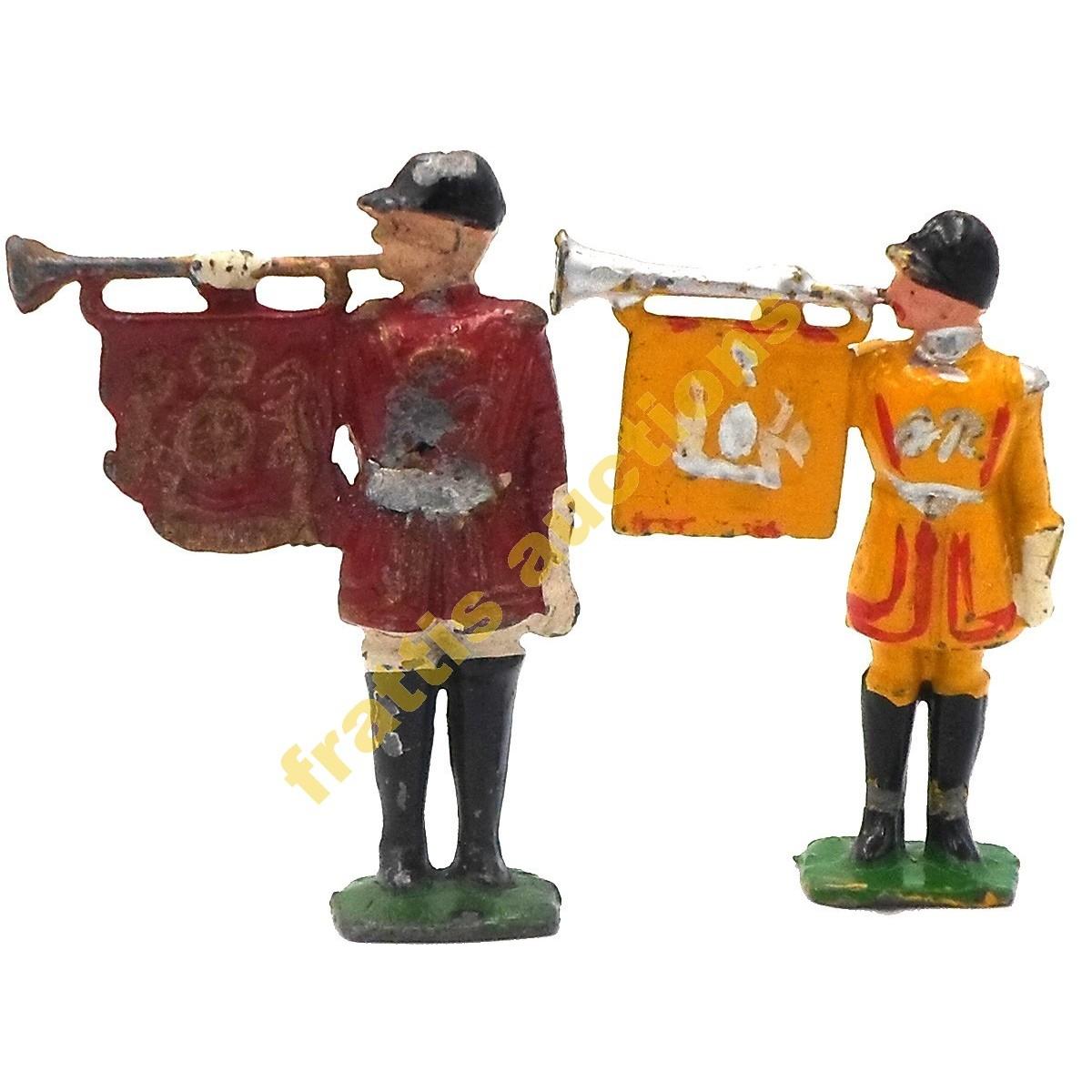 2 μολυβένιες φιγούρες Ελβετικής φρουράς.