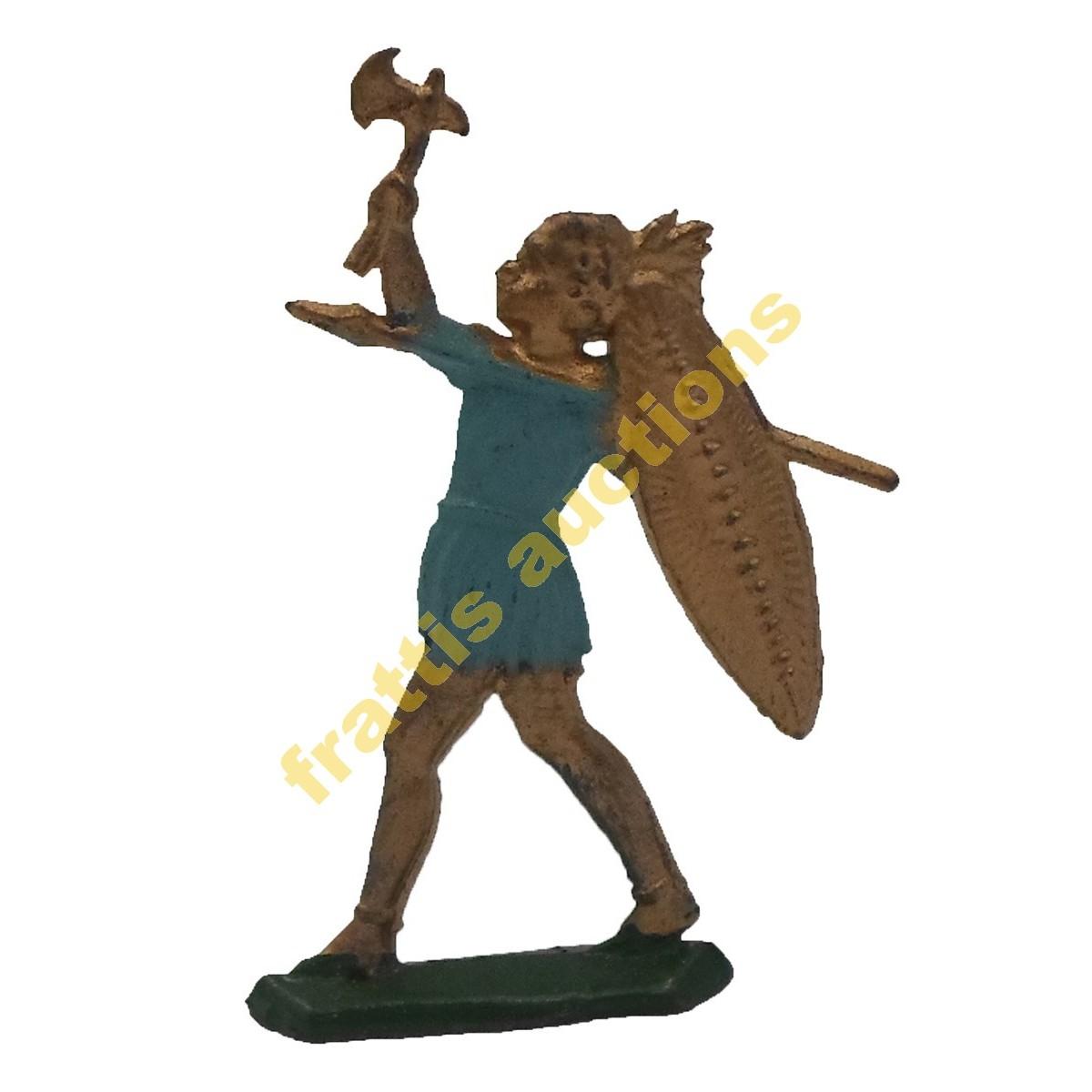 Μολυβένια φιγούρα αρχαίου πολεμιστή 6 εκ.