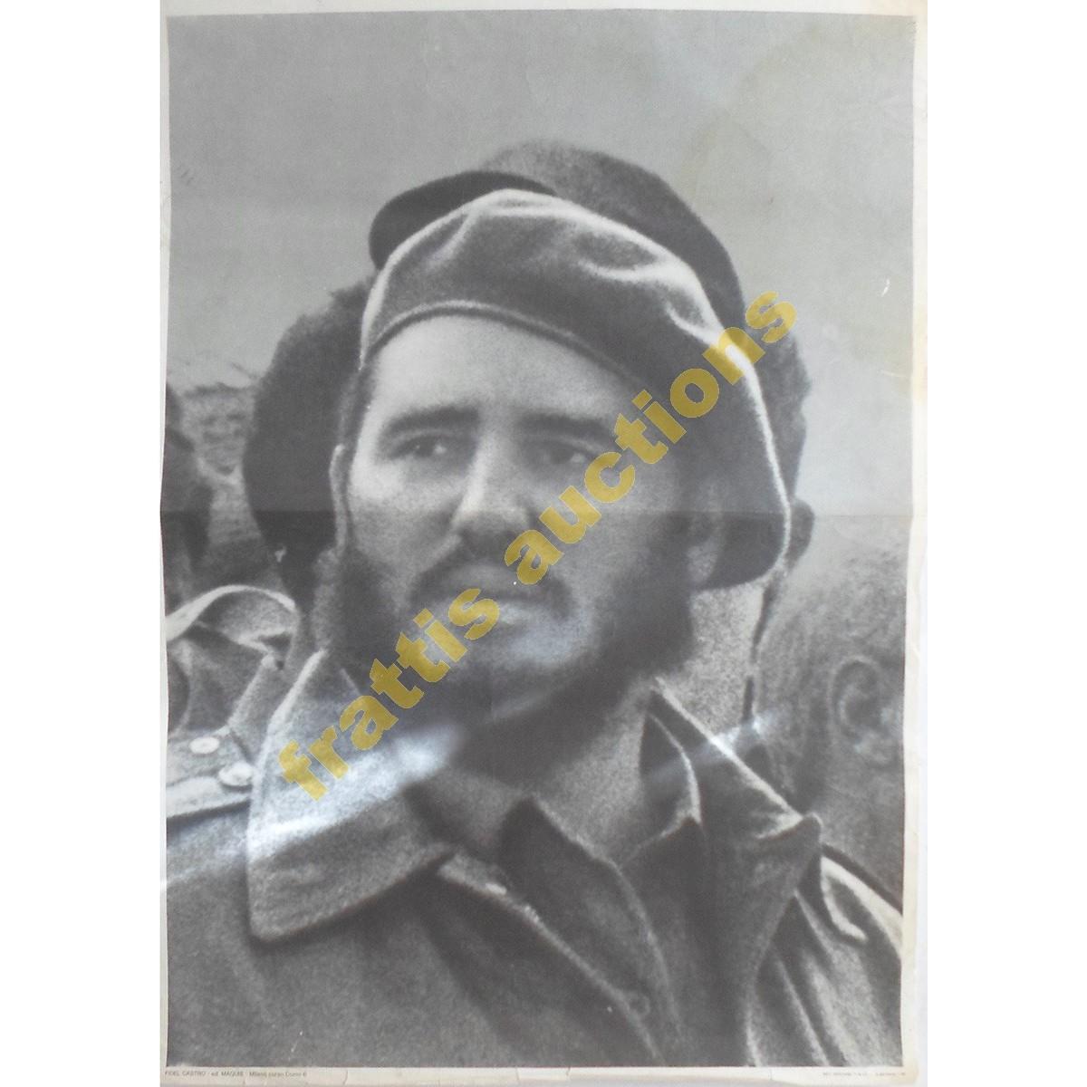 Fidel Castro, χάρτινη αφίσα.