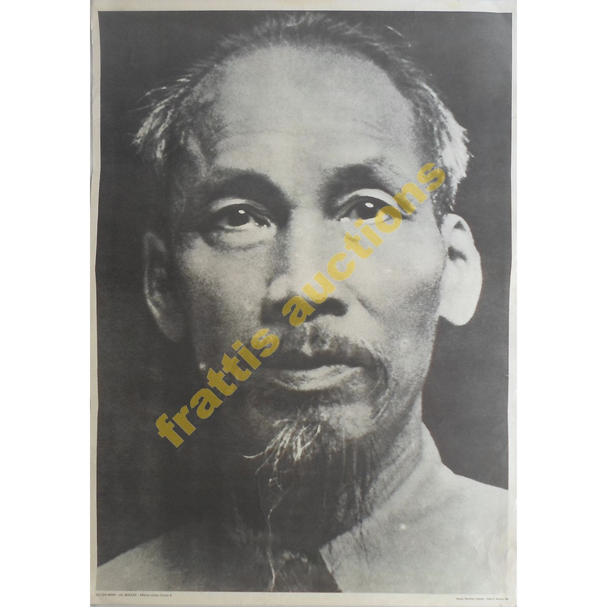 Ho Chi Minh, χάρτινη αφίσα.