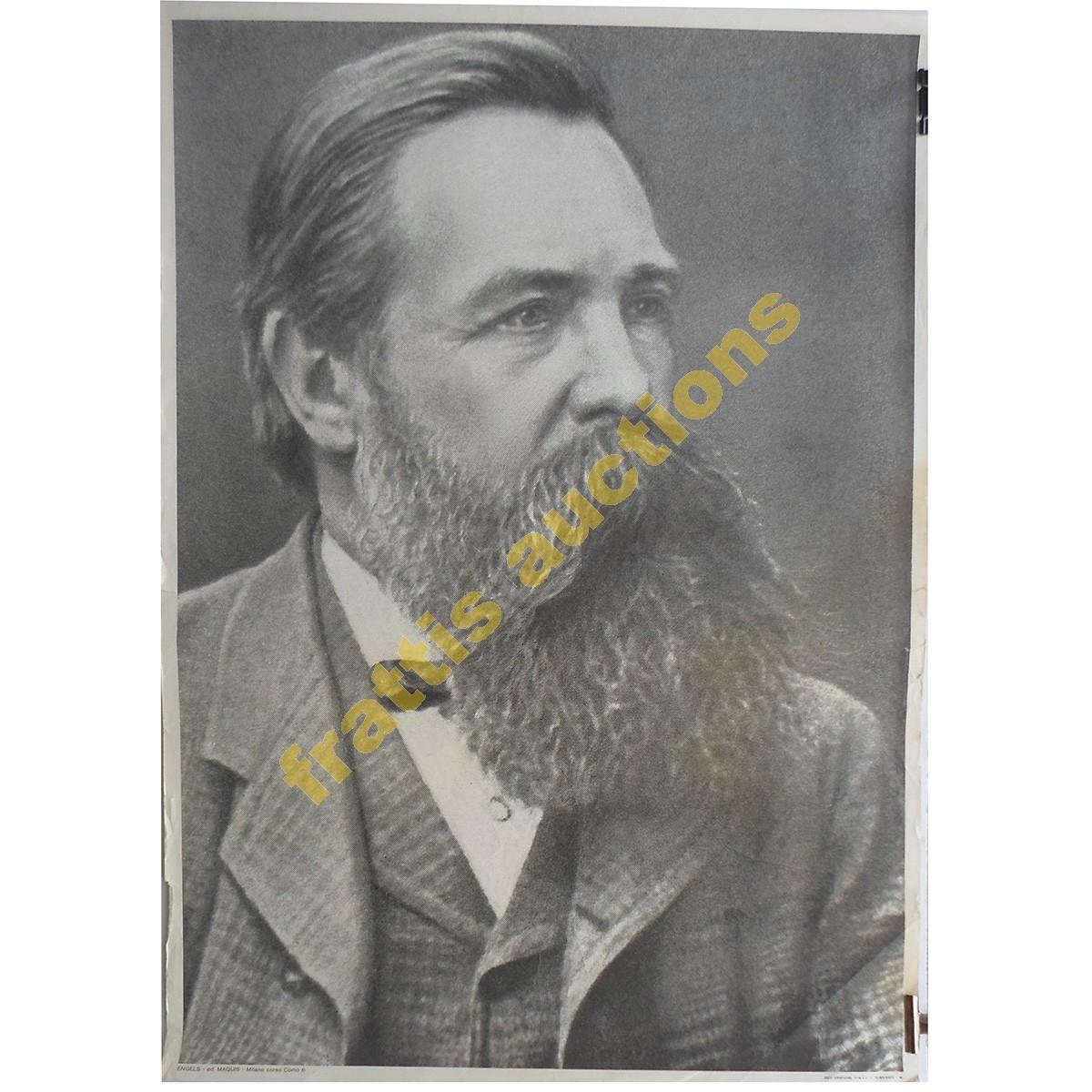 Engels, χάρτινη αφίσα.