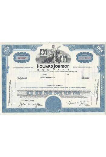 Howard Johnson Company.