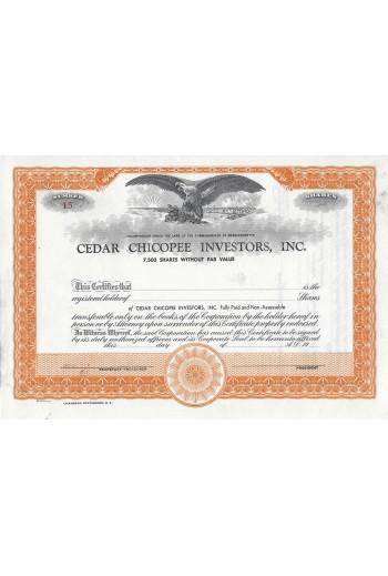 Cedar Chicopee Investors ,...