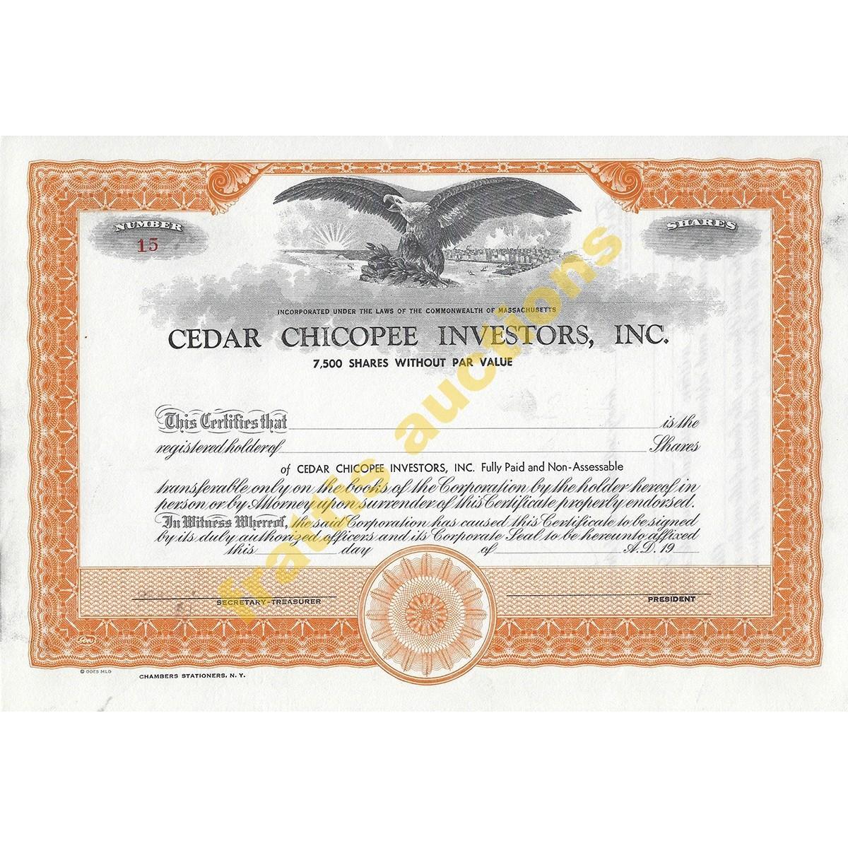 Cedar Chicopee Investors , INC.