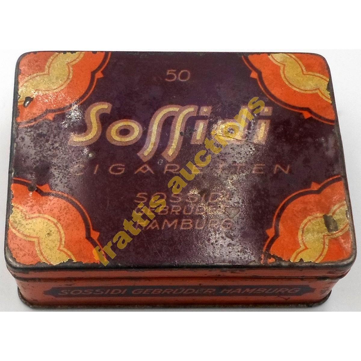 Sossidi, μεταλλικό κουτί 50 τσιγάρων.