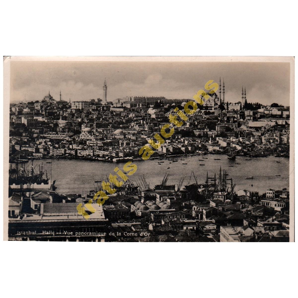 Κεράτιος κόλπος,Κωσταντινούπολη, carte postale.