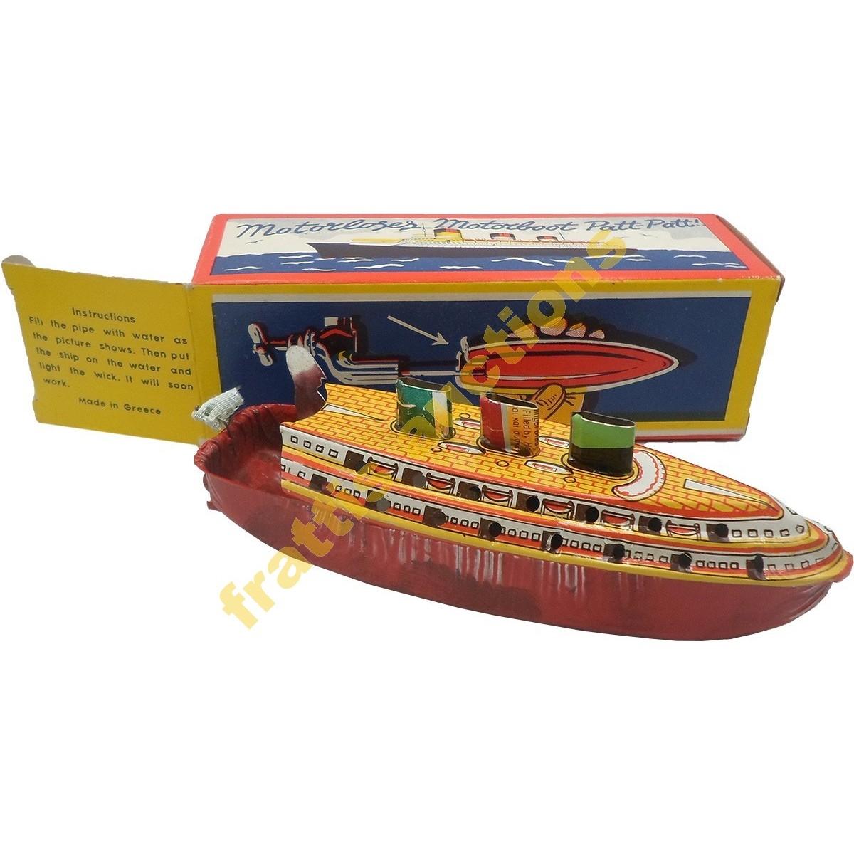 Patt-Patt τσίγκινο ατμοκίνητο καράβι 1950's