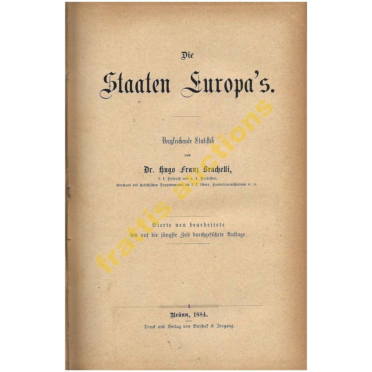 Die Staaten Europa's, Brachelli,1884.