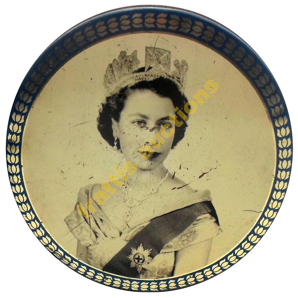 Μεταλλικό κουτί με τη Βασίλισσα. Ελισσάβετ.
