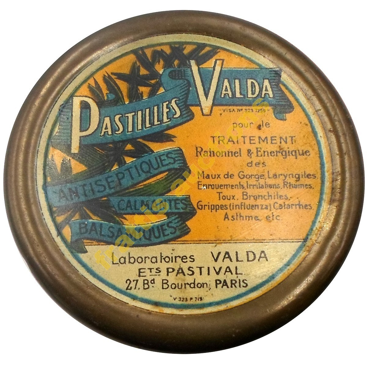 Pastilles Valda, Paris, μεταλλικό κουτί.