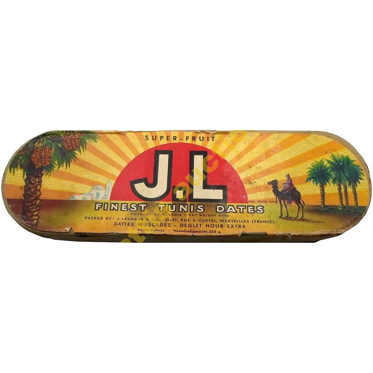 J.L, Super-Fruit, χάρτινο κουτί χουρμάδων.